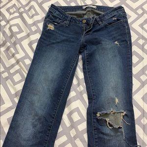 Ripped Bullhead Black Jeans